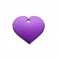 Адресник для собаки сердце PurpleHeart (малое)