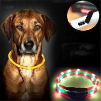 Светящийся ошейник для собаки L