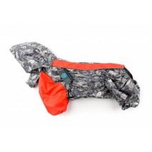 Дождевик для собак Французский бульдог / мопс Slicker red line